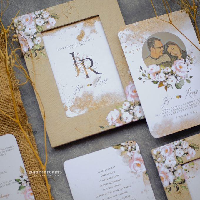 Invitation Mix Photo Frame - JOJO & ROSSY by Jogja Wedding Net - 004
