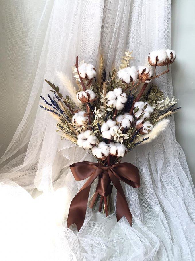 Dried Bouquet Wedding by Magnolia Dried Flower - 014
