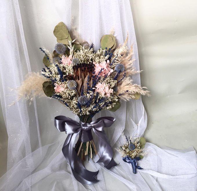 Dried Bouquet Wedding by Magnolia Dried Flower - 001