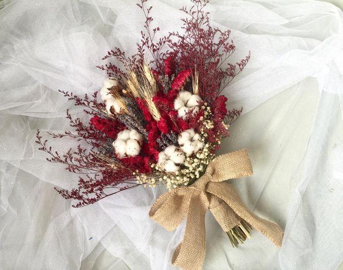 Dried Bouquet Wedding by Magnolia Dried Flower - 016