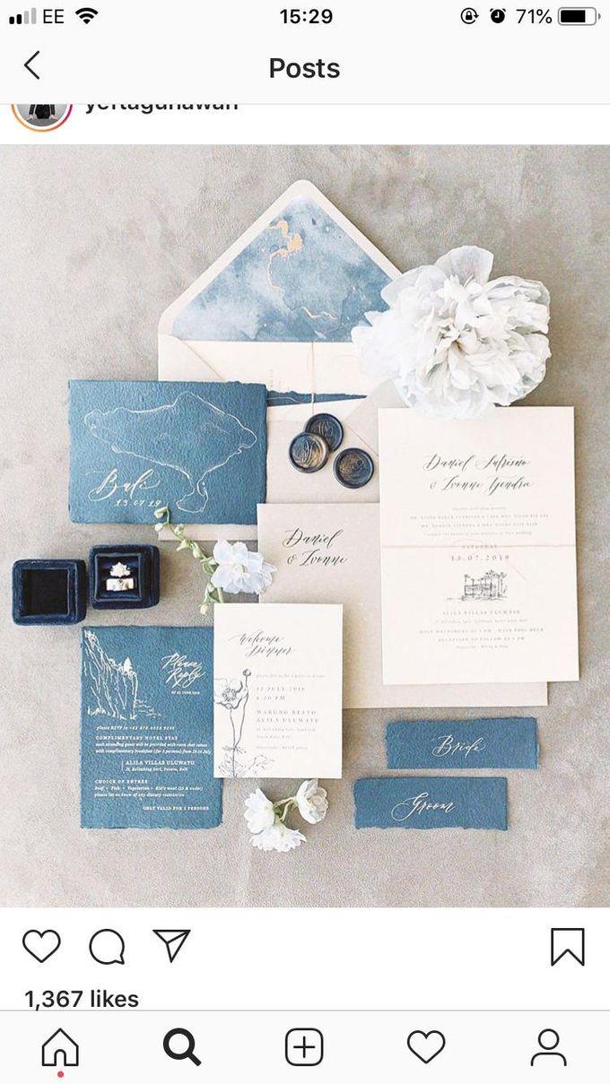 Dusty Blue by Pensée invitation & stationery - 004