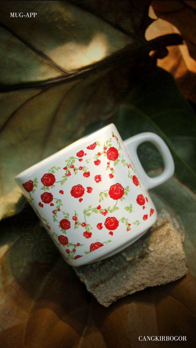 Mug Kotak Full Flowers by Mug-App Wedding Souvenir - 004