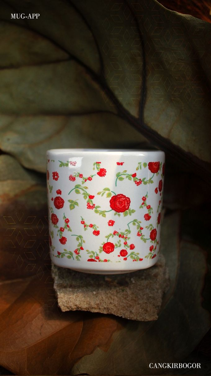 Mug Kotak Full Flowers by Mug-App Wedding Souvenir - 005