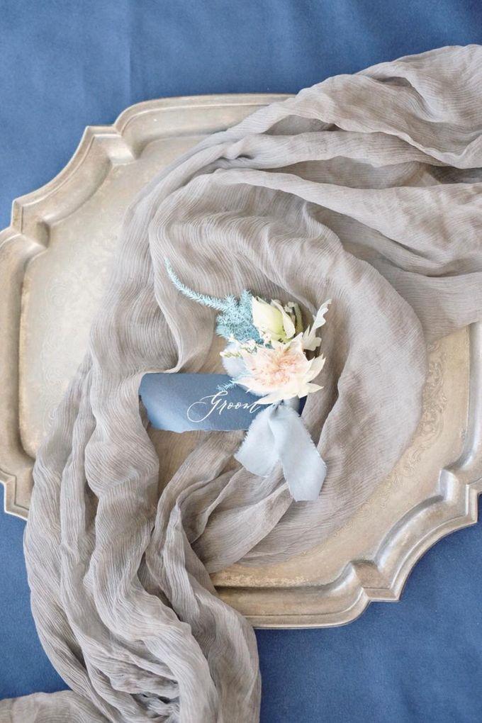 Dusty Blue by Pensée invitation & stationery - 003