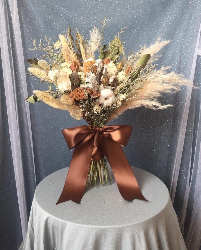 Dried Bouquet Wedding by Magnolia Dried Flower - 007