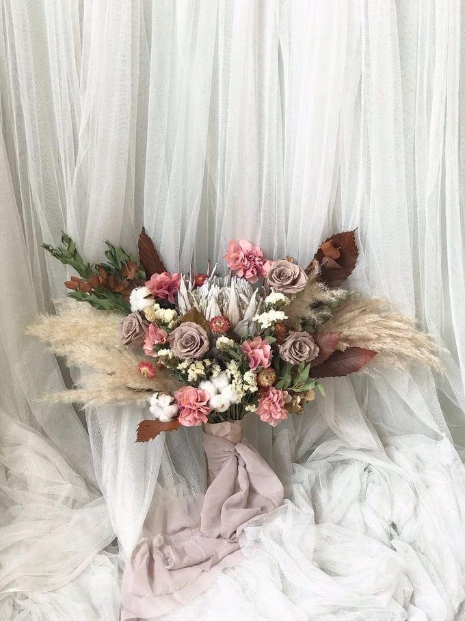 Dried Bouquet Wedding by Magnolia Dried Flower - 012