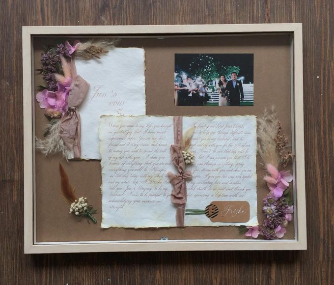 Invitation Memorable Frame (40x50) by Magnolia Dried Flower - 003