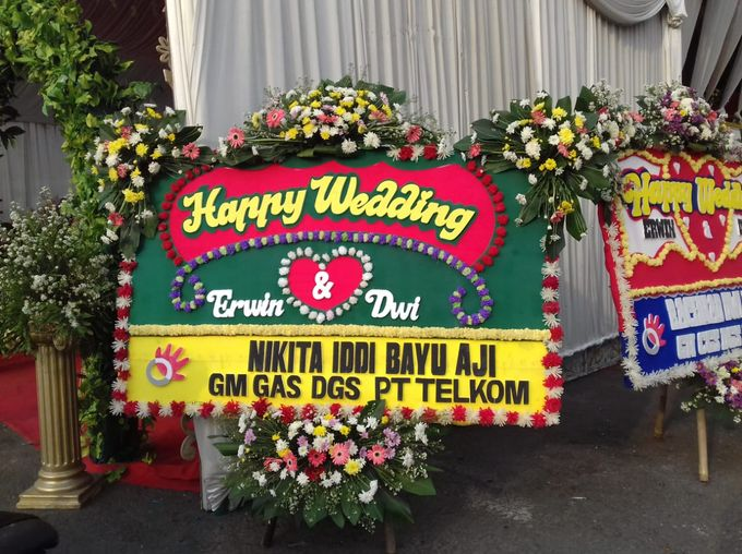Bunga Papan Wedding by Bougenville Decoration - 009