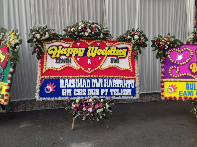 Bunga Papan Wedding by Bougenville Decoration - 006
