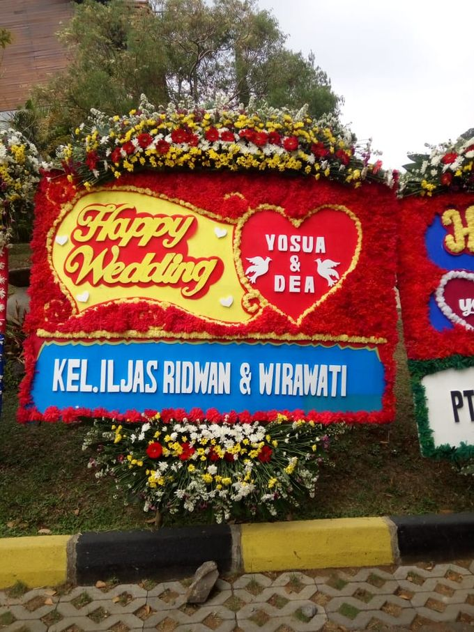 Bunga Papan Wedding by Bougenville Decoration - 005