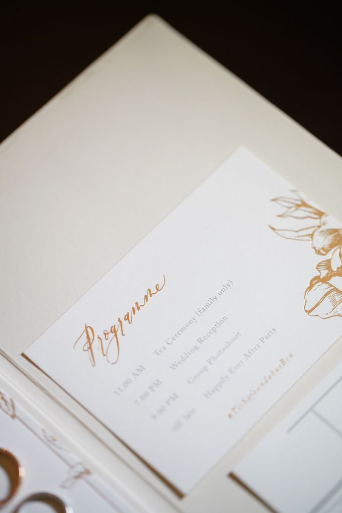 Classic White Peony by Pensée invitation & stationery - 002