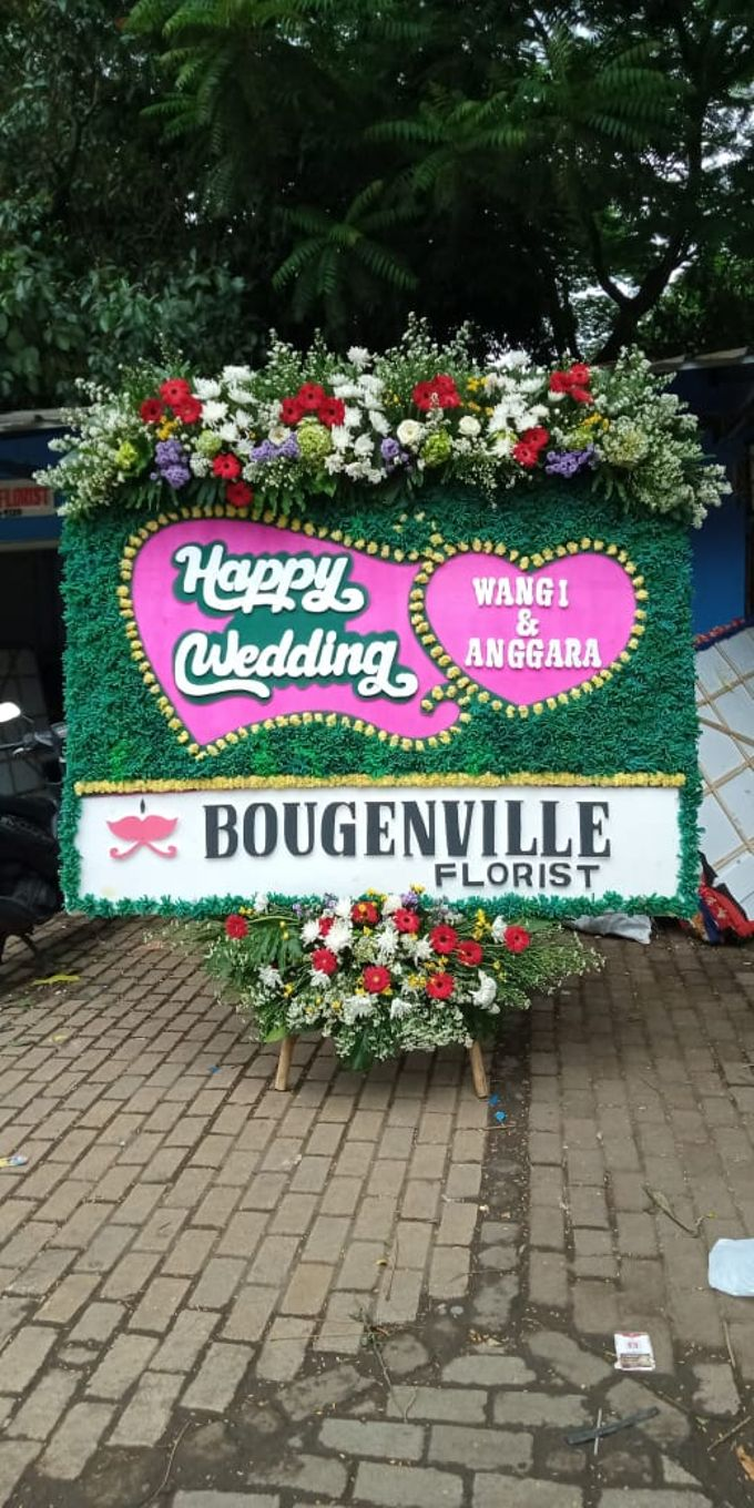 Bunga Papan Wedding by Bougenville Decoration - 001