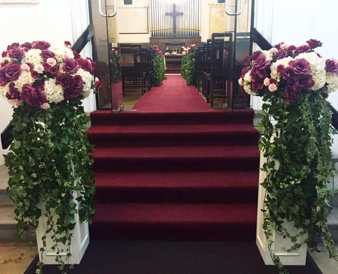 Wedding Decoration : Church by Florist By HaejaBudiman - 009