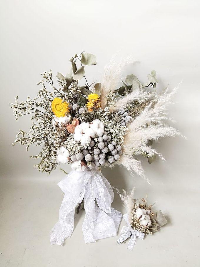 Dried Bouquet Wedding by Magnolia Dried Flower - 010