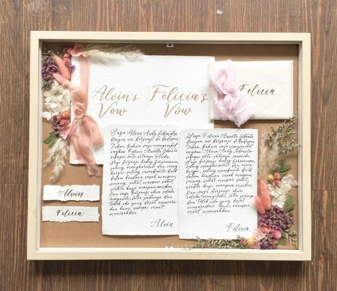 Invitation Memorable Frame (40x50) by Magnolia Dried Flower - 004