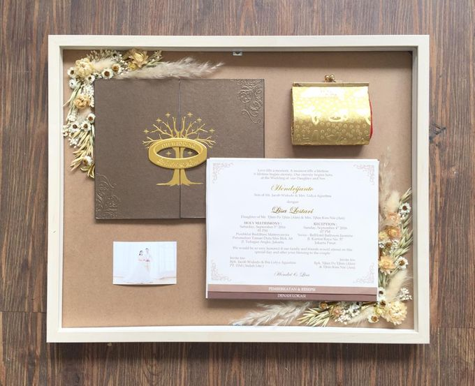 Invitation Memorable Frame (40x50) by Magnolia Dried Flower - 002