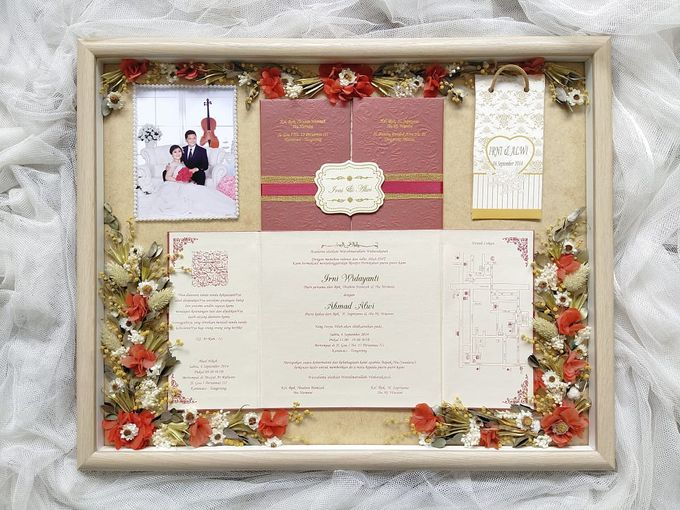 Invitation Memorable Frame (40x50) by Magnolia Dried Flower - 006