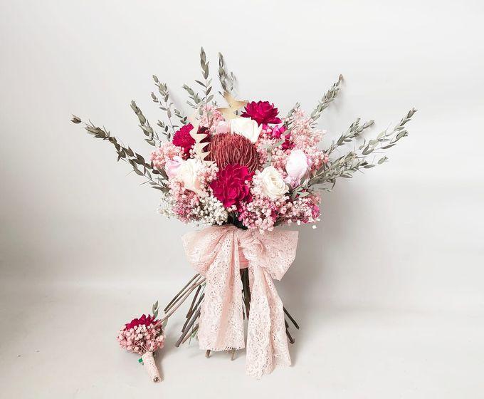 Dried Bouquet Wedding by Magnolia Dried Flower - 008