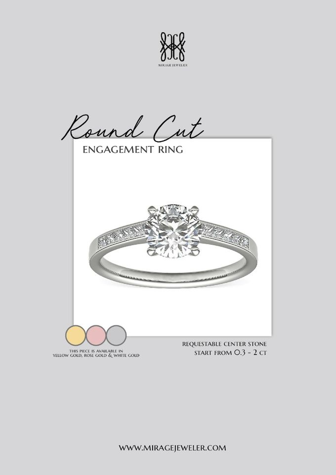 ROUND Center Engagement Ring by Mirage Jeweler - 014