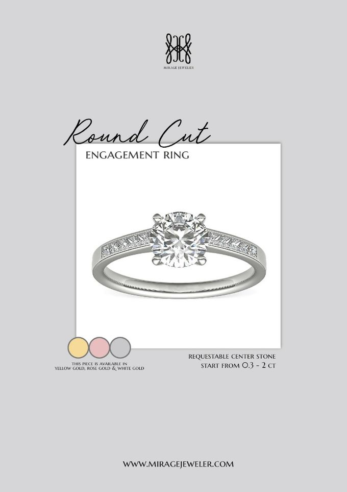 ROUND Center Engagement Ring by Mirage Jeweler - 009