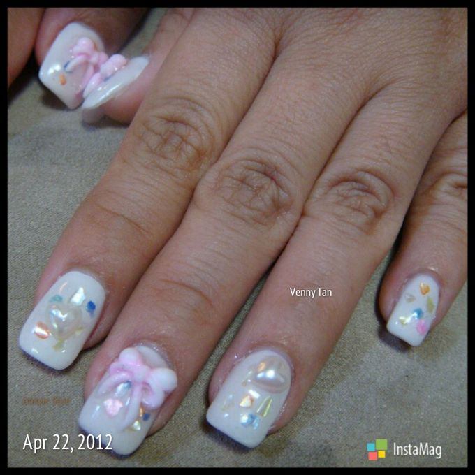 3D Nail art for wedding day by Luz Bello 3D Nail Art-Extension - 023