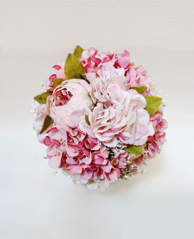 Artificial Wedding Hand bouquet - Pink Peony by raia_fleurs - 005