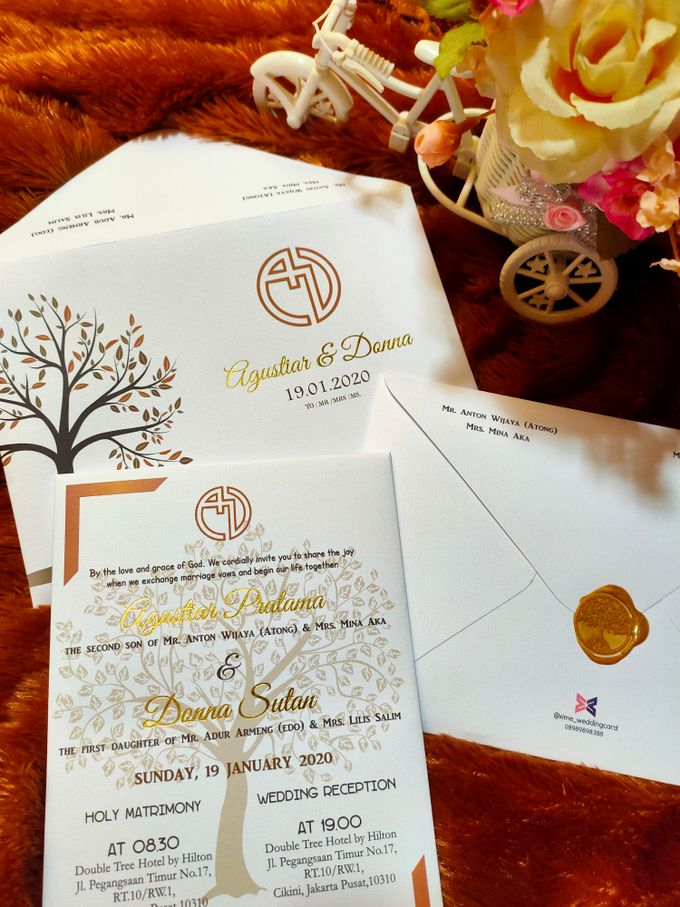 Agustiar & Donna invititation by xime wedding card - 001