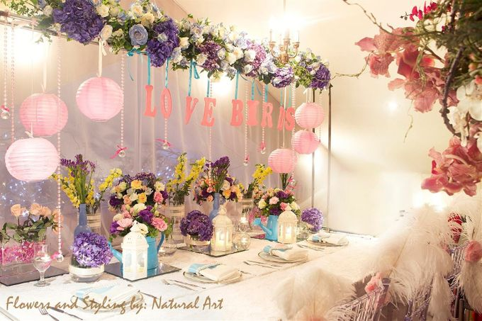 Reception Styling by Natural Art Flowers and Decors - 013