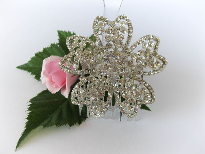Bridal Hair Comb by Pamela Falli - 009