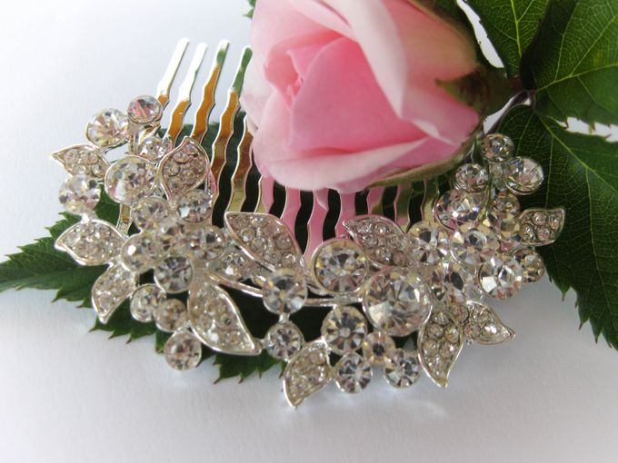 Bridal Hair Comb by Pamela Falli - 008