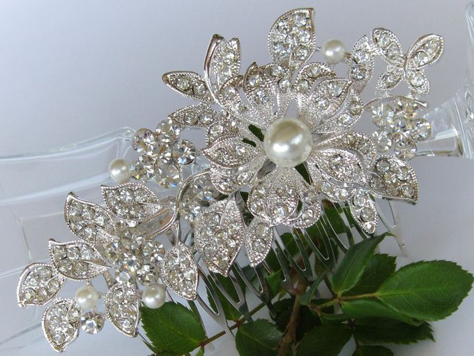 Bridal Hair Comb by Pamela Falli - 013