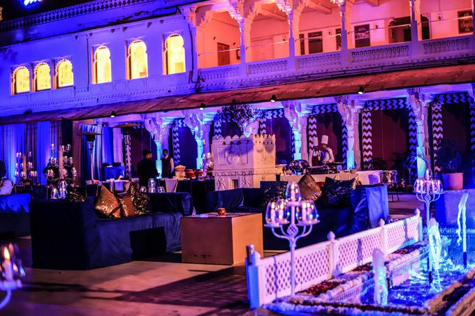 Destination wedding at Taj Aravali with beautiful surrounding by Wedding By Neeraj Kamra - 012