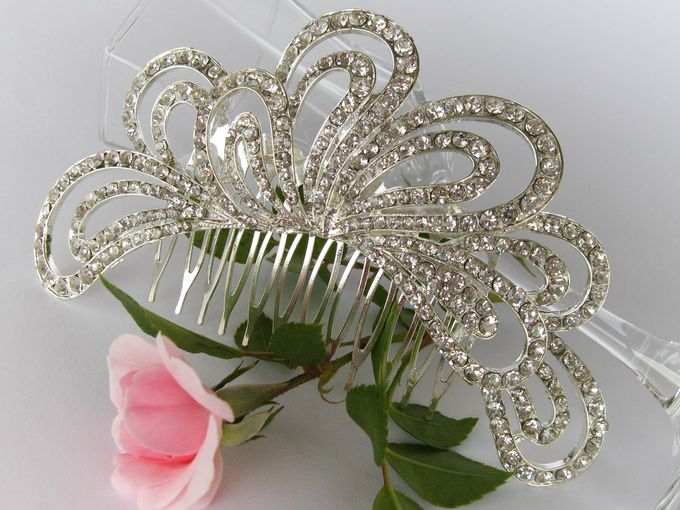 Bridal Hair Comb by Pamela Falli - 012