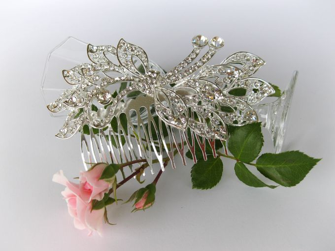 Bridal Hair Comb by Pamela Falli - 018