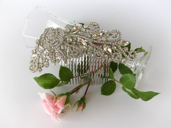 Bridal Hair Comb by Pamela Falli - 007