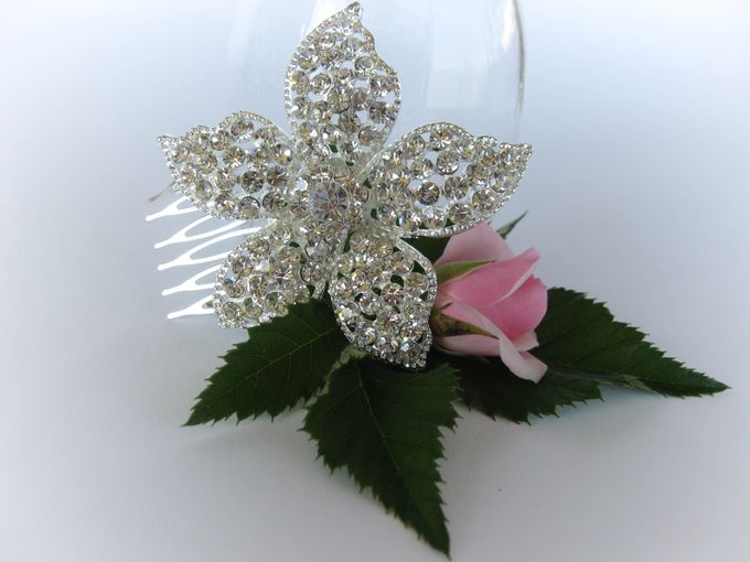 Bridal Hair Comb by Pamela Falli - 003