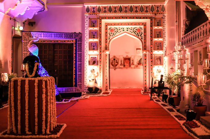 Destination wedding at Taj Aravali with beautiful surrounding by Wedding By Neeraj Kamra - 013