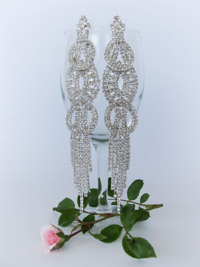 BrIdal Jewelry-Bridal Earrings by Pamela Falli - 002