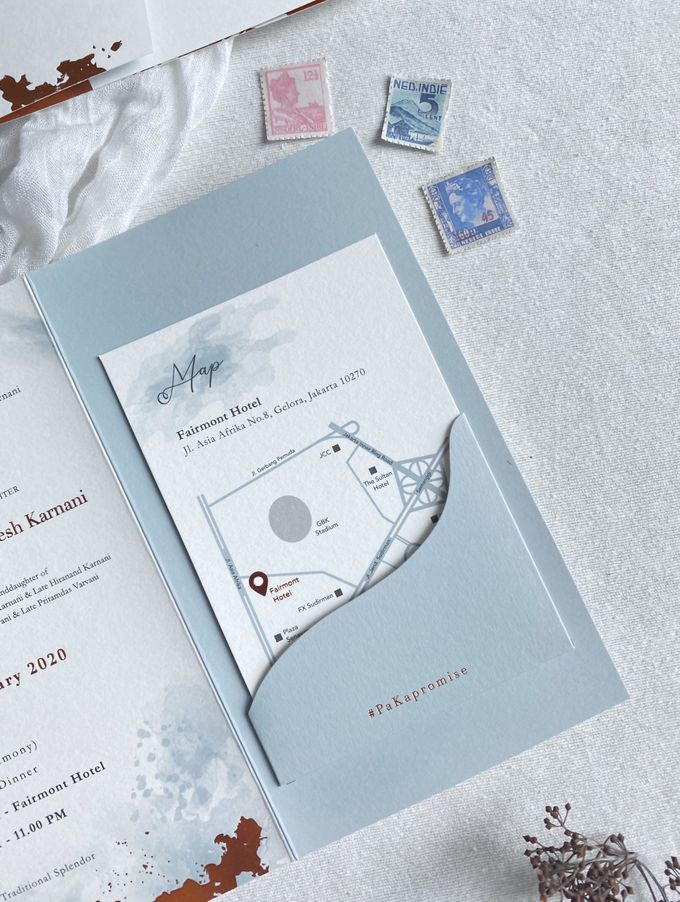 Prashant & Bhavika Trifold Invitation by Sho Paper - 004