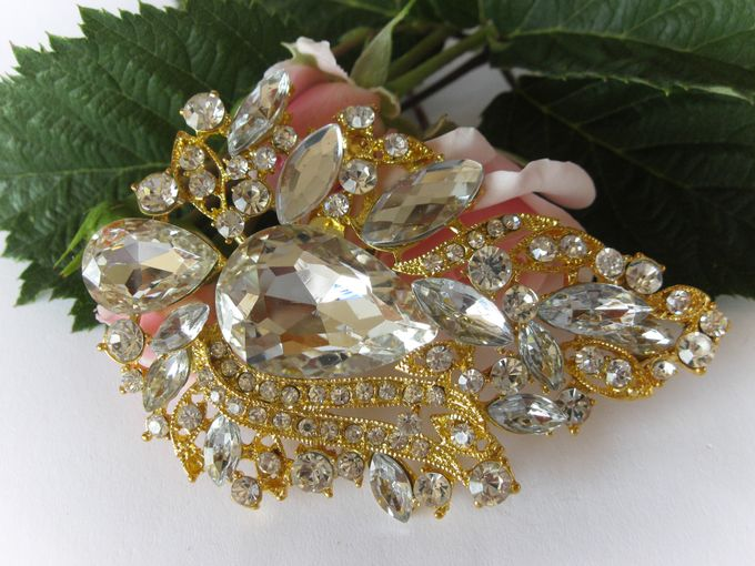 BRIDAL CRISTAL BROCHES by Pamela Falli - 008