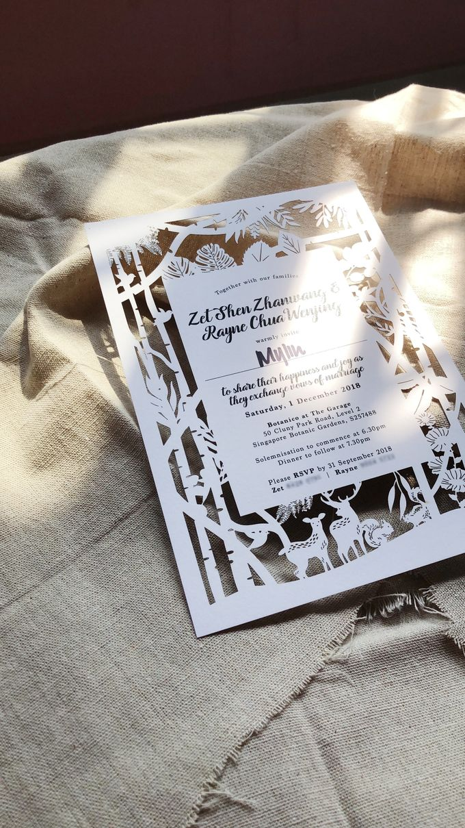 Whimisal Laser-cut Invitation Card by mylin design & co. - 001