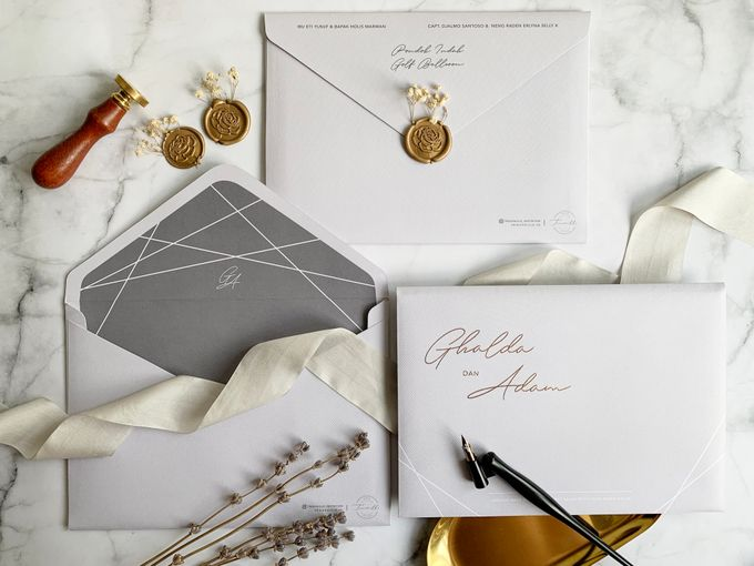 Minimalist Geometric Grey by Trouvaille Invitation - 007