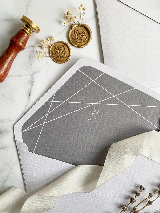 Minimalist Geometric Grey by Trouvaille Invitation - 008