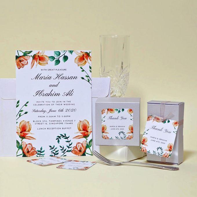 Magnolia Wedding Invitation by Gift Elements - 001