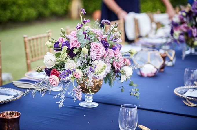 Purple Lilac  Navy and Gold wedding by Samui Weddings and Events - 005