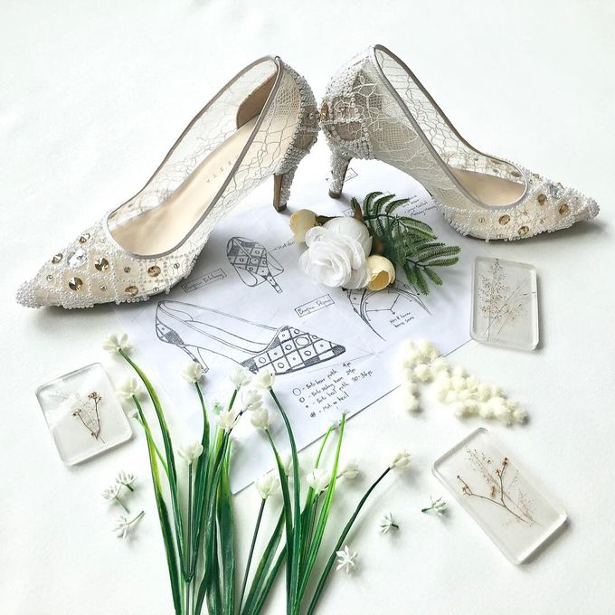 Vinette White (Pearls + Swarovski) by SERVERESTA - 001
