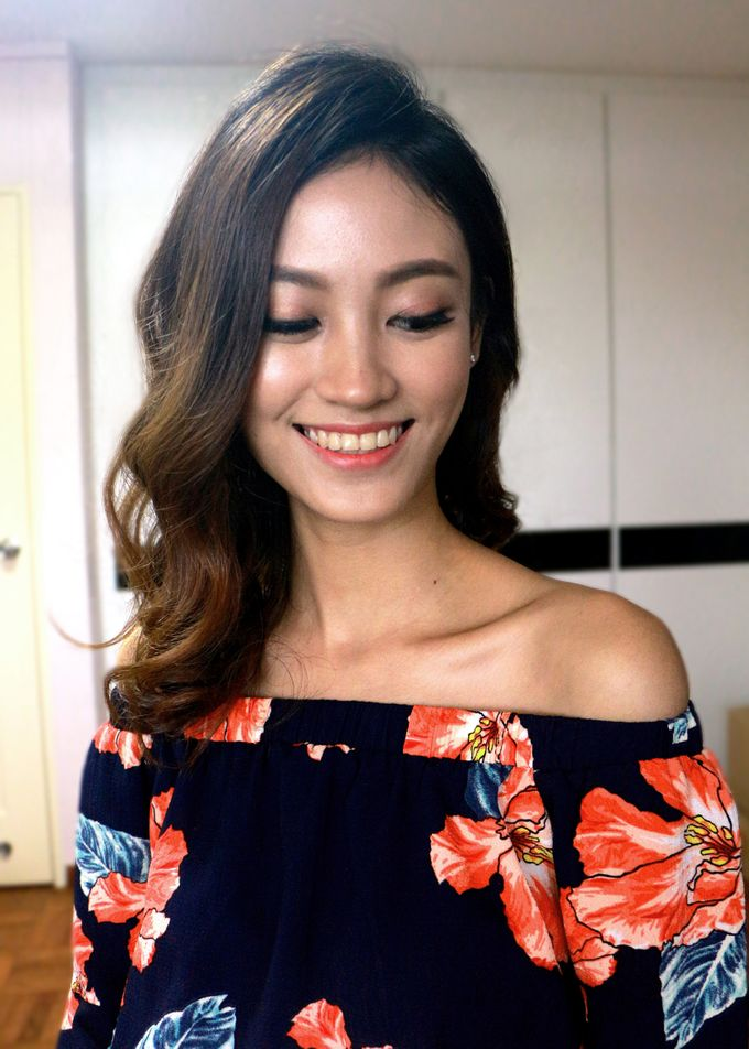 Simple Chic Makeup and Hairstyles Portrait Fashion Photoshoot by Sylvia Koh Makeup and Hairstyling - 002