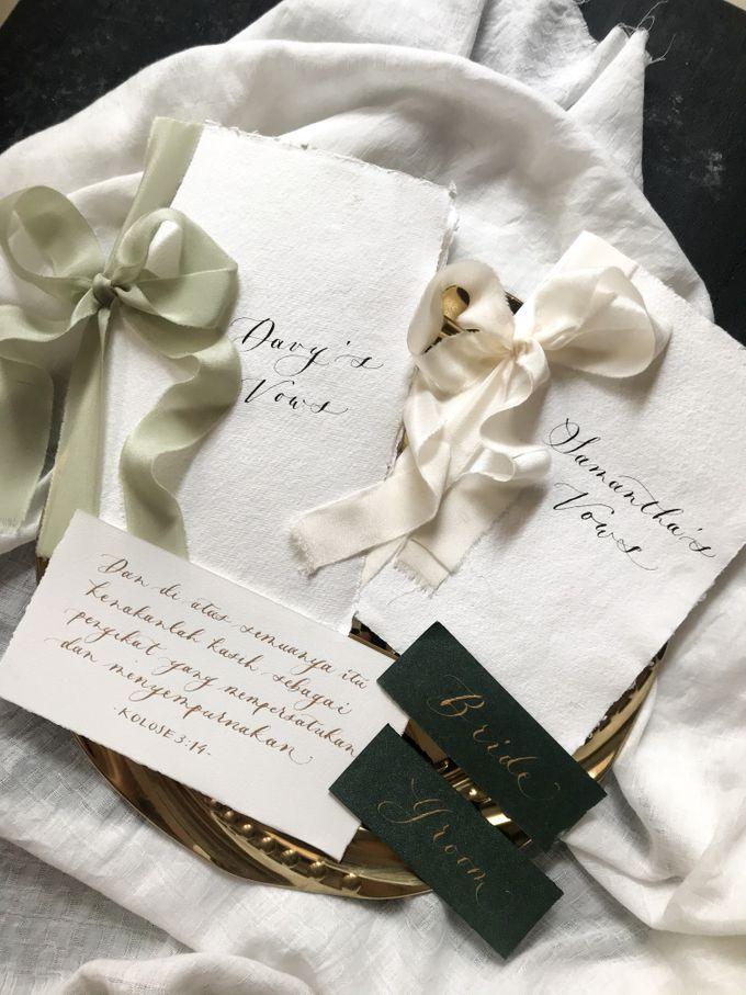 Davy Samantha Wedding Vows Book By Tulisanana Calligraphy Bridestory Com