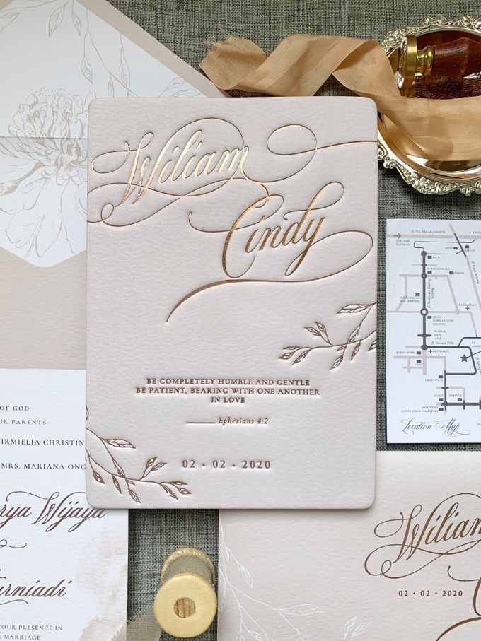 Blush Calligraphy by Trouvaille Invitation - 002