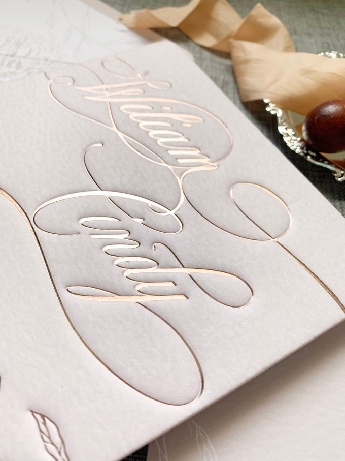 Blush Calligraphy by Trouvaille Invitation - 003